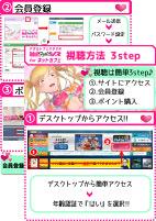 Adult Festa VR for ネットカフェ 視聴方法3step A4サイズ